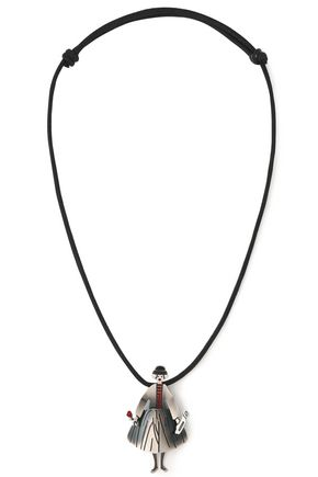RED(V) Silver-tone necklace