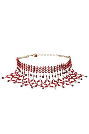 ROSANTICA Glass and gold-tone necklace