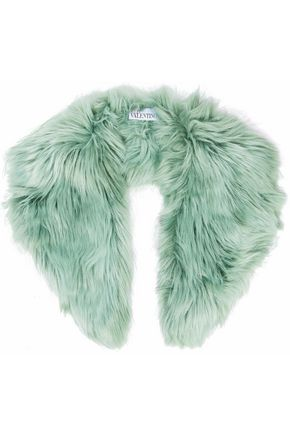 RED(V) Faux fur collar