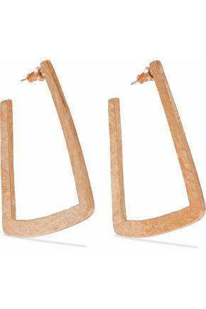 BEN-AMUN Hammered gold-tone hoop earrings