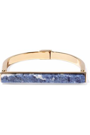 BEN-AMUN Gold-tone lapis lazuli bracelet