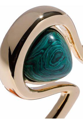 BEN-AMUN Gold-tone lapis lazuli cuff