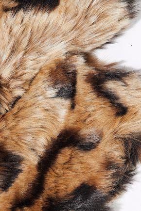 RED(V) Leopard-print faux fur collar
