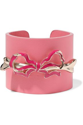 REDValentino Bow-embellished leather cuff