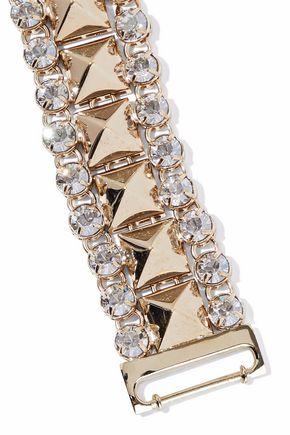 RED(V) Gold-tone crystal bracelet