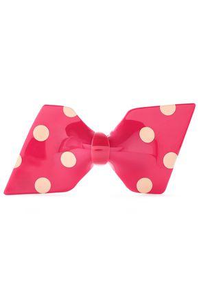 RED(V) Polka-dot acetate brooch