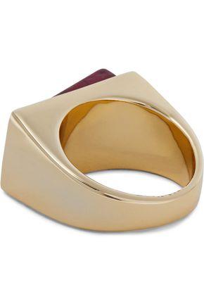 BEN-AMUN Gold-tone stone ring