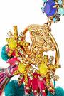 ELIZABETH COLE 24-karat gold-plated, Swarovski crystal, tassel and pompom earrings