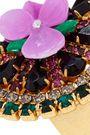 ELIZABETH COLE 24-karat gold-plated, crystal and resin ring