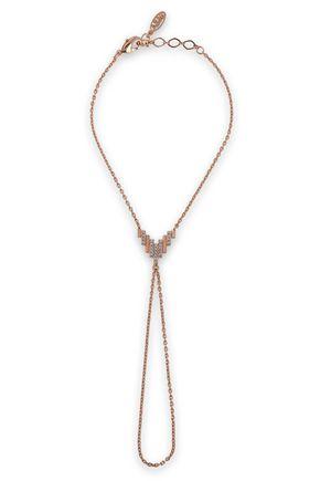 ASTRID & MIYU Fitzgerald Pyramid 18-karat rose gold-plated crystal bracelet