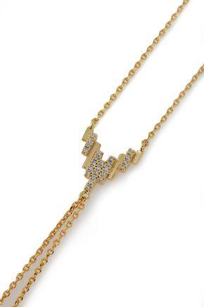 ASTRID & MIYU Fitzgerald Pyramid gold-plated crystal bracelet