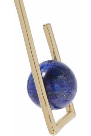 BEN-AMUN Gold-tone lapis lazuli earrings