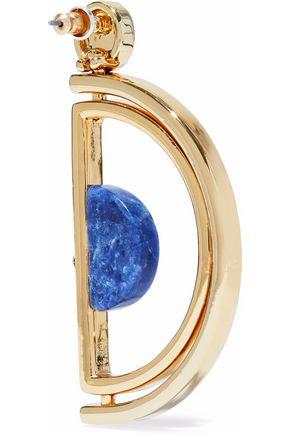 BEN-AMUN Gold-tone agate earrings