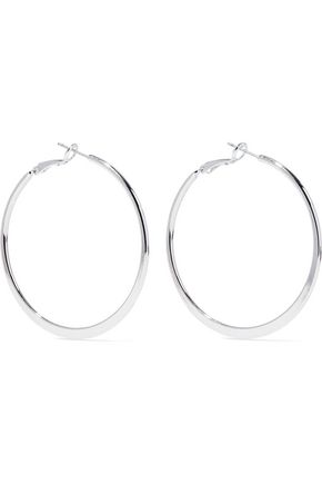 KENNETH JAY LANE Silver-tone hoop earrings