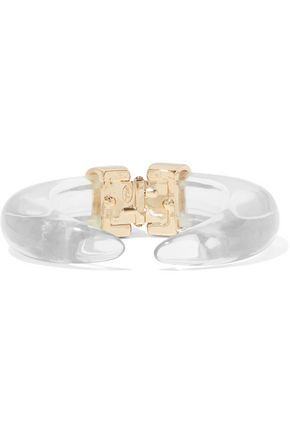 KENNETH JAY LANE Gold-tone resin cuff
