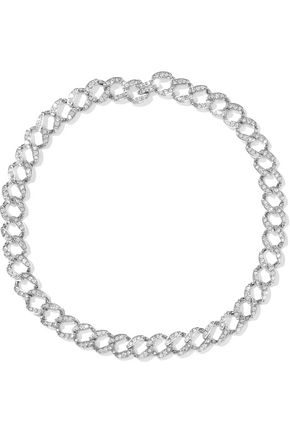 WOMAN SILVER-TONE CRYSTAL NECKLACE SILVER