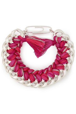 AURÉLIE BIDERMANN Do Brasil sterling silver cord bracelet
