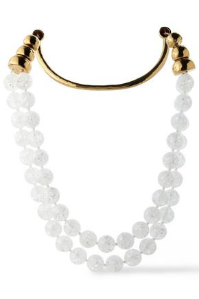 AURÉLIE BIDERMANN Gold-tone crystal necklace