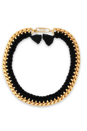 AURÉLIE BIDERMANN Do Brasil 18-karat gold-plated cord necklace