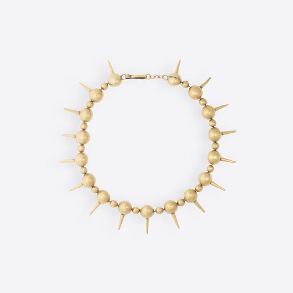 Collar metal y perlas