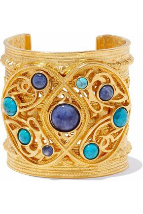 BEN-AMUN Gold-tone cabochon cuff