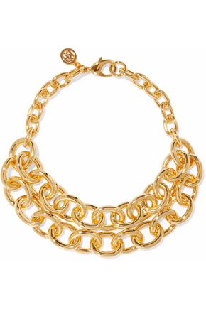 BEN-AMUN Gold-tone necklace