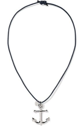 RED(V) Silver-tone cord necklace