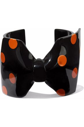 RED(V) Polka-dot acrylic cuff