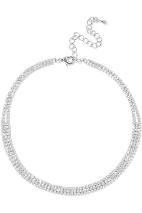 CZ by KENNETH JAY LANE Silver-tone crystal choker