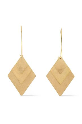 burnished-gold-tone-earrings by kenneth-jay-lane