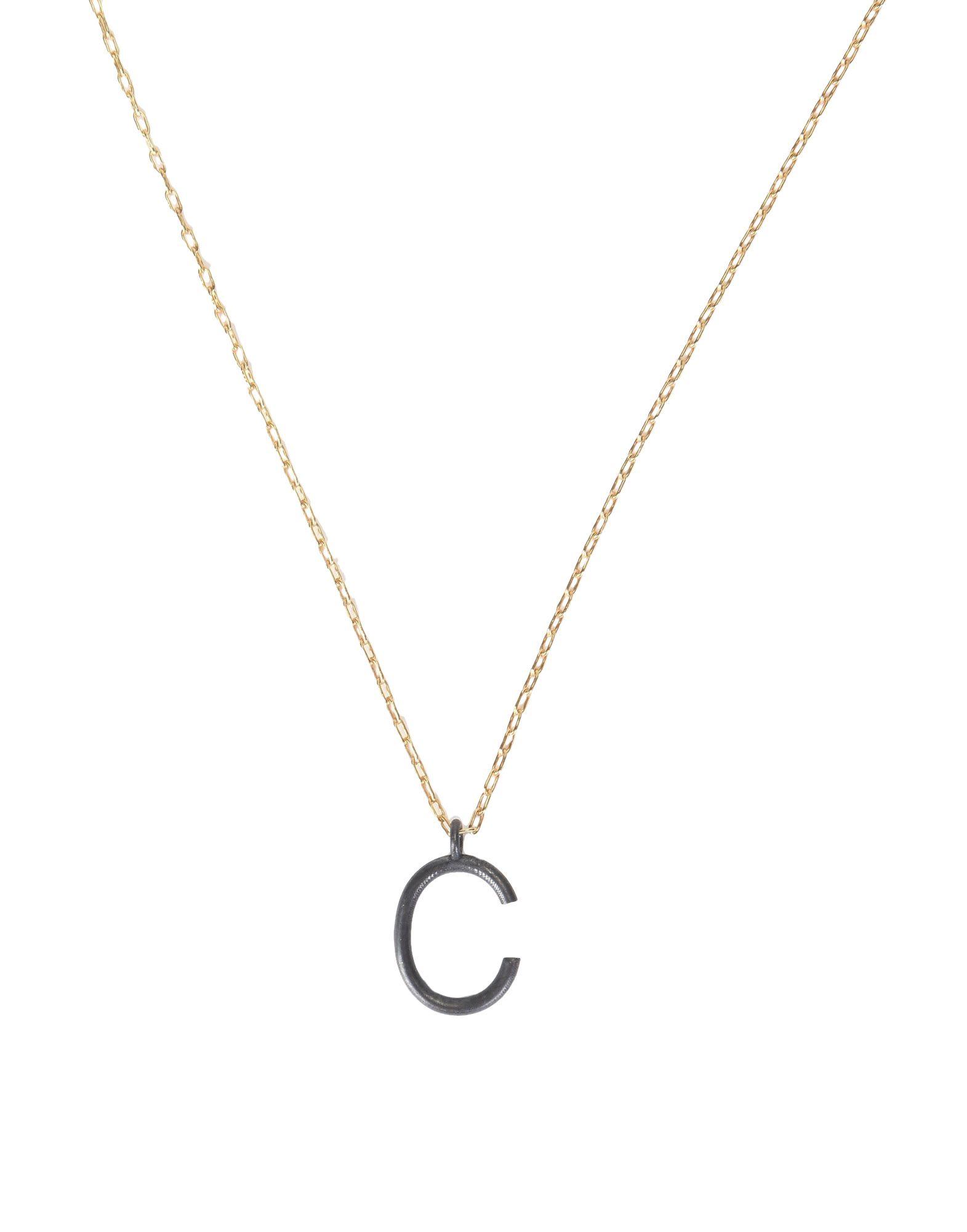 《セール開催中》FIRST PEOPLE FIRST レディース ネックレス ゴールド シルバー925/1000 Letter Pendent Necklace