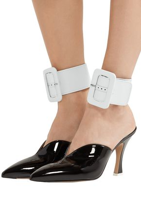 ATTICO Patent-leather ankle straps