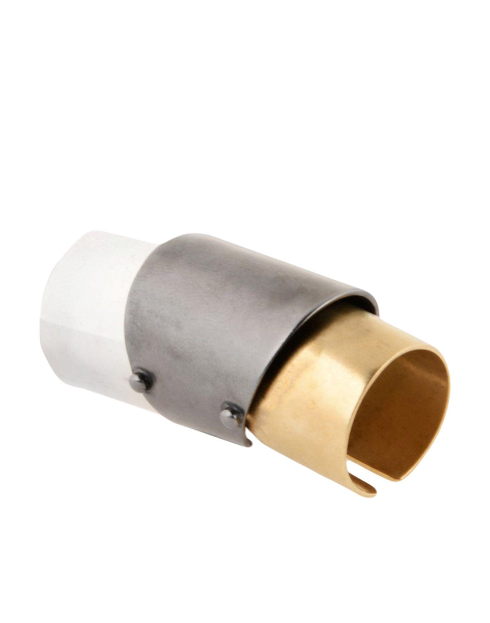 《セール開催中》MAISON MARGIELA レディース 指輪 鉛色 XS 真鍮/ブラス 100%
