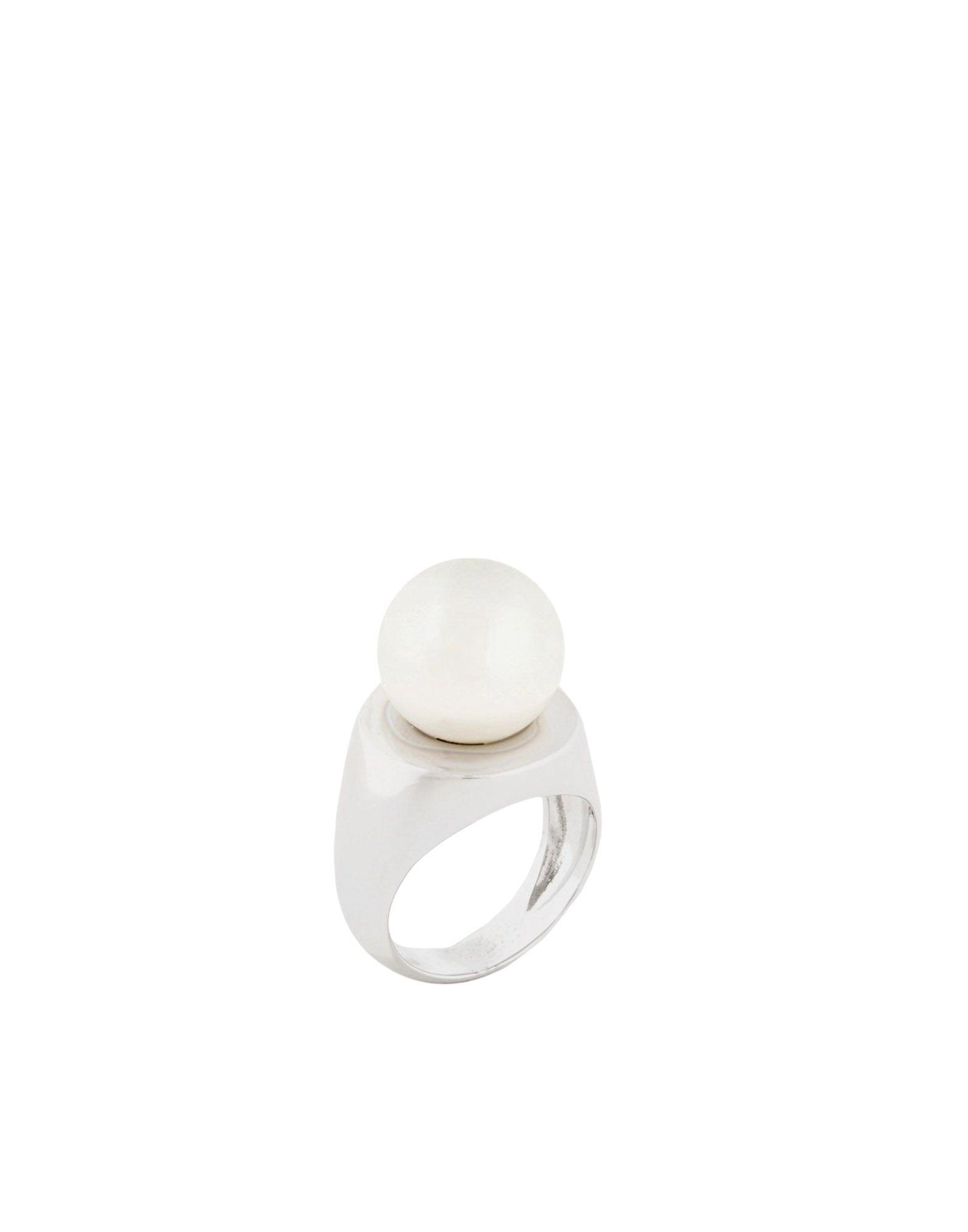 《セール開催中》MM6 MAISON MARGIELA レディース 指輪 シルバー S 真鍮/ブラス / ポリウレタン