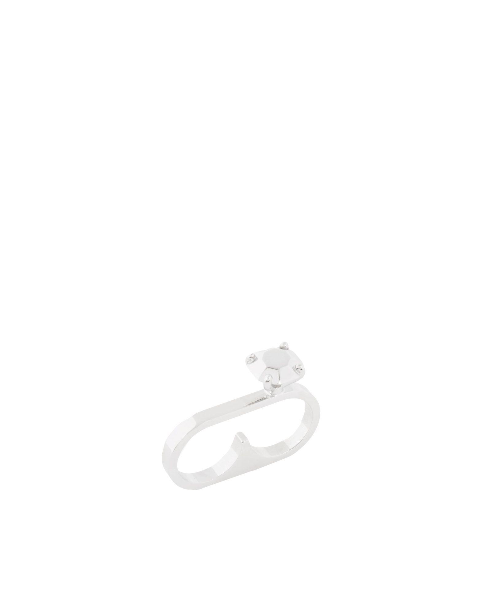 《セール開催中》MM6 MAISON MARGIELA レディース 指輪 シルバー S 真鍮/ブラス 100%