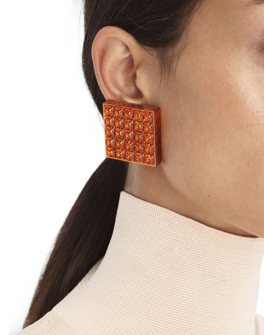 ORANGE LUXBOX EARRINGS - Lanvin