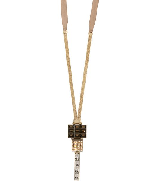 GOLD AND BRONZE LUXBOX NECKLACE - Lanvin