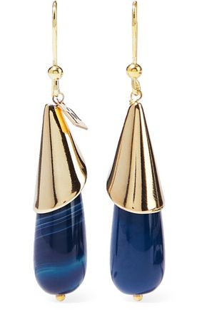 ROSANTICA Bellini gold-tone resin earrings