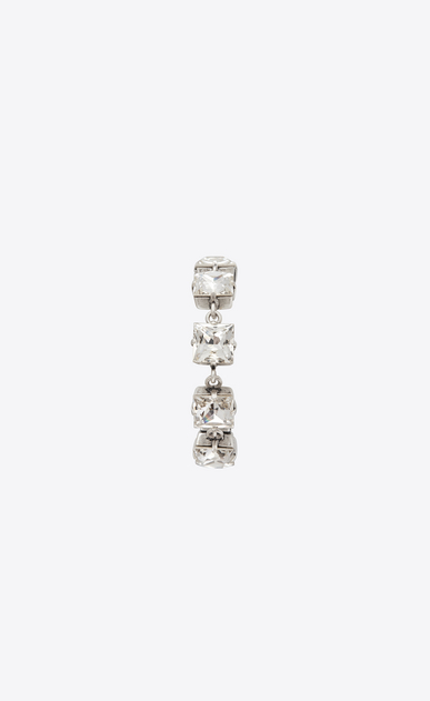 SAINT LAURENT Bracelets Woman Oversized SMOKING tennis bracelet in silver-tone metal with white crystals b_V4