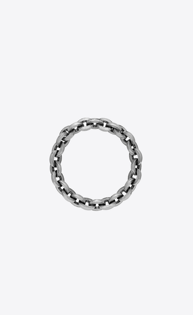 SAINT LAURENT Bracelets Woman CHAINES link bangle in silver-tone metal a_V4