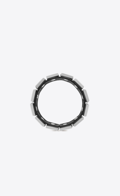SAINT LAURENT Bracelets Woman CHAÎNES link cuff bracelet in black alligator skin and silver-tone metal b_V4