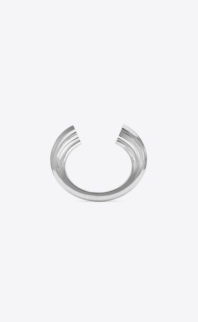 SAINT LAURENT Bracelets Woman YSL OPYUM bracelet in silver-tone metal a_V4