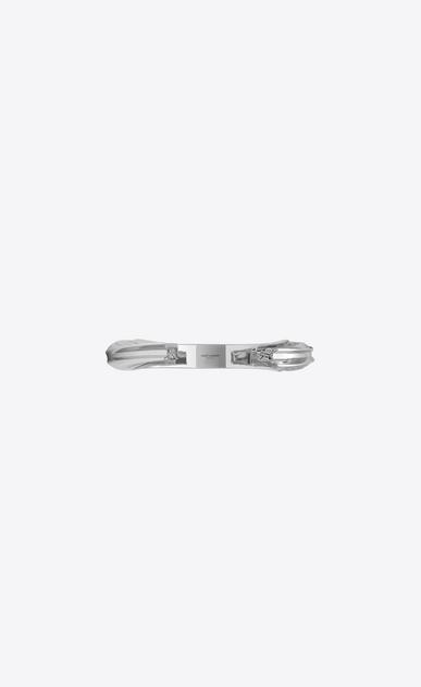 SAINT LAURENT Bracelets Damen YSL OPYUM Armreif aus silberfarbenem Metall b_V4