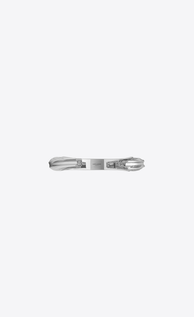 SAINT LAURENT Bracelets Woman YSL OPYUM bracelet in silver-tone metal b_V4