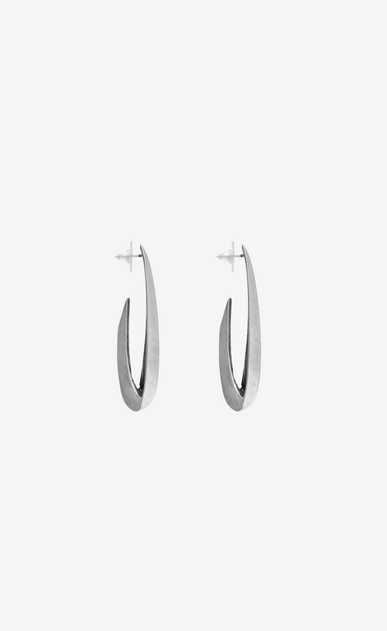 SAINT LAURENT Earrings Woman CHAINES earrings in silver-tone metal b_V4