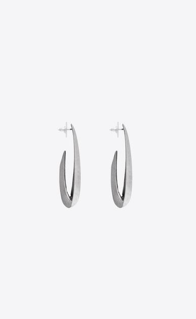 SAINT LAURENT Boucles d'Oreilles Femme Boucles d'oreilles CHAINES en métal argenté b_V4