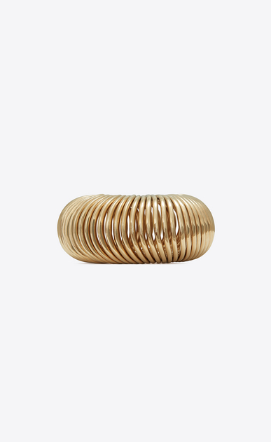 MINIMALISTE multi-ring bracelet in light gold-tone metal