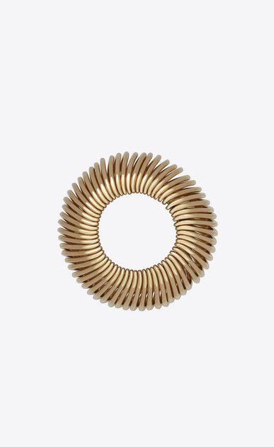 SAINT LAURENT Bracelets Woman MINIMALISTE multi-ring bracelet in light gold-tone metal b_V4