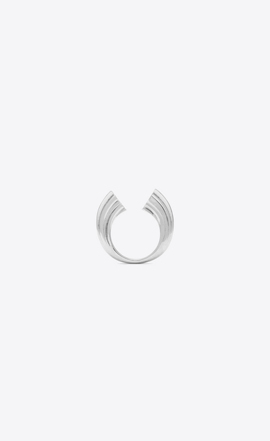 SAINT LAURENT Rings Woman YSL OPYUM ring in silver-tone metal a_V4