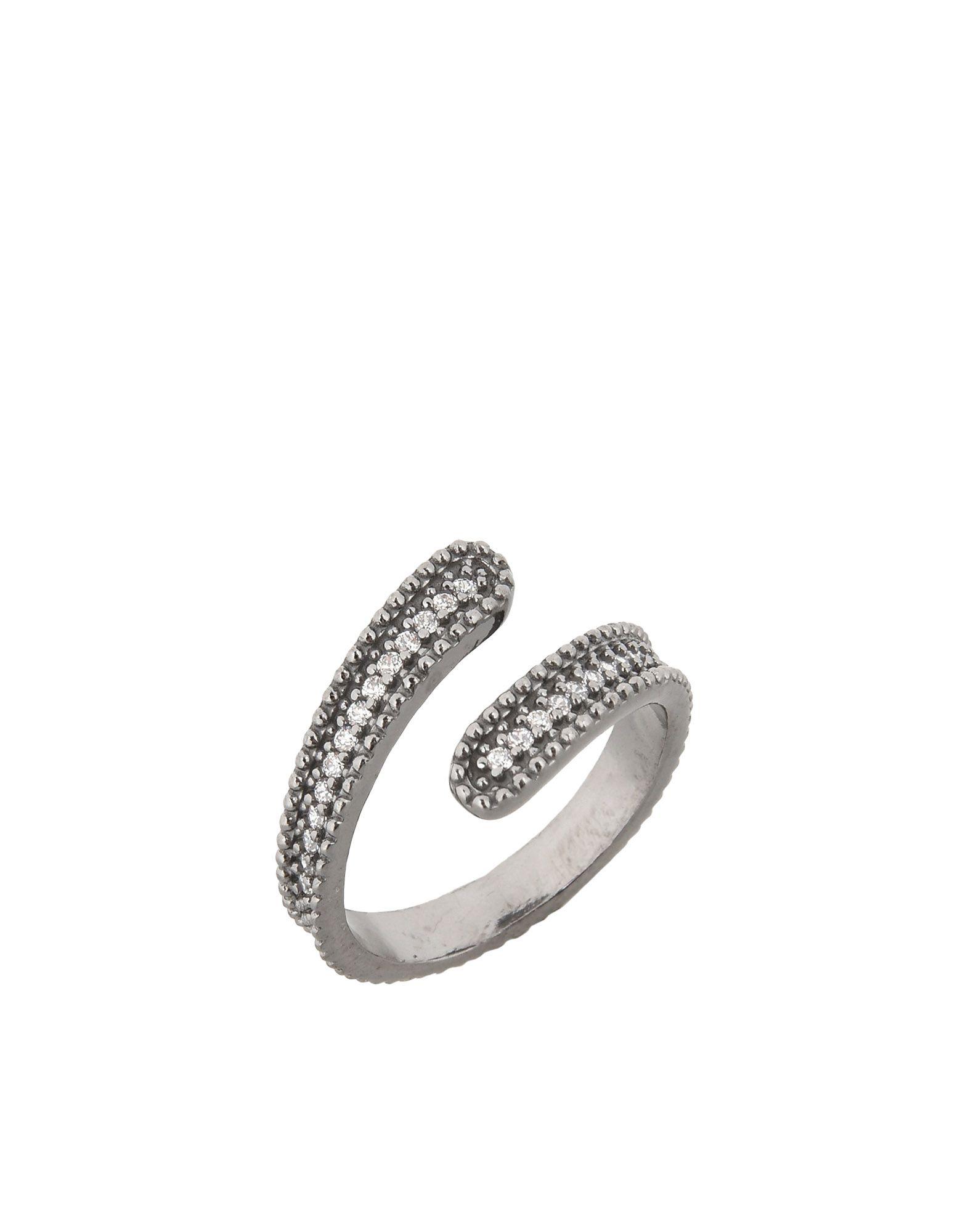 《セール開催中》FIRST PEOPLE FIRST レディース 指輪 鉛色 one size シルバー925/1000 / 18金メッキ / キュービックジルコニア Concordia Zircon Ring